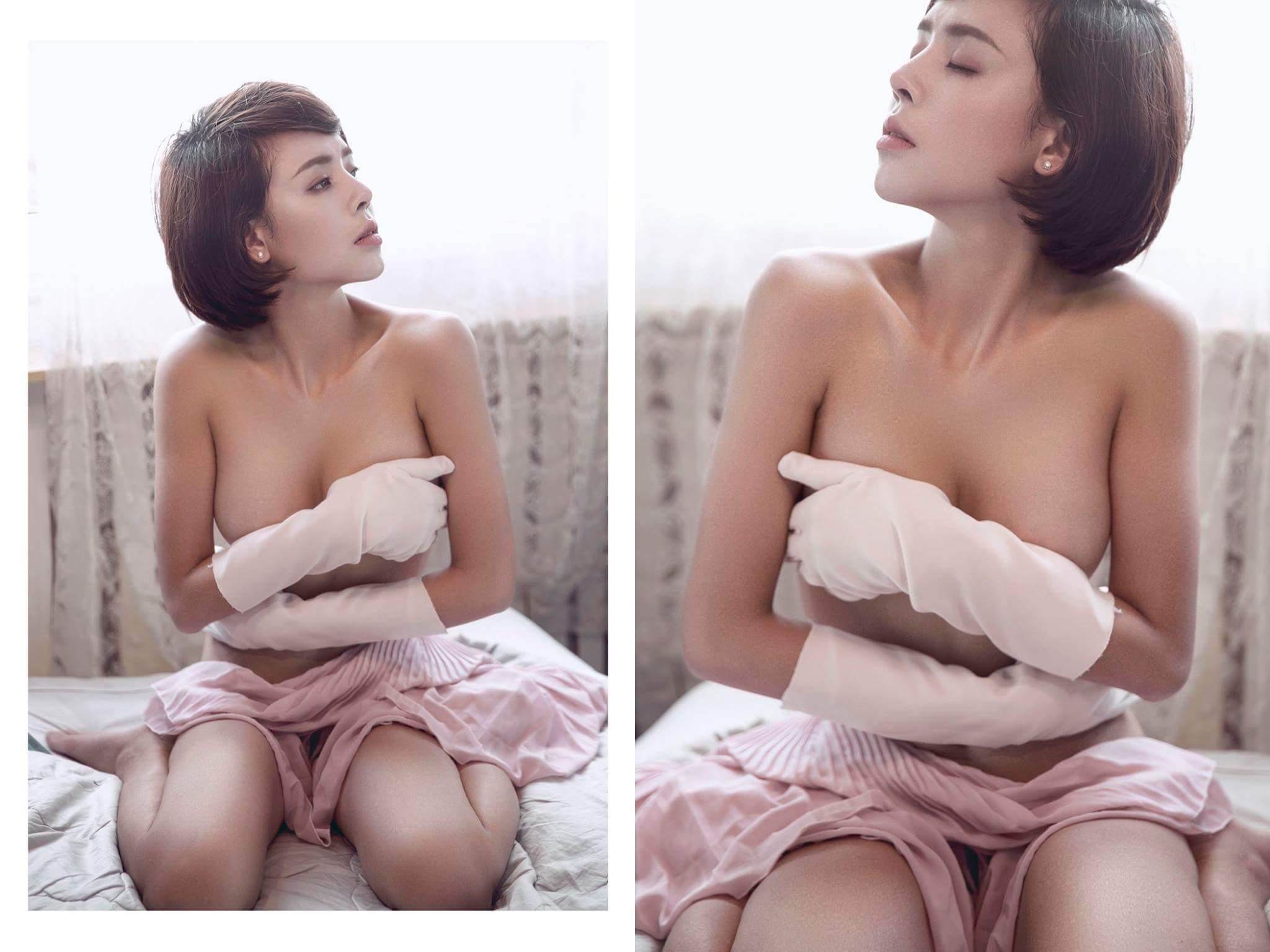 Hot girl Lê Na pretty in lace photo Vương Chánh Khiêm